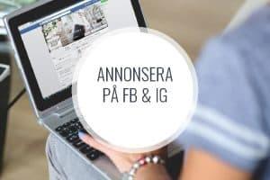 Kurs: Annonsering på Facebook och instagram