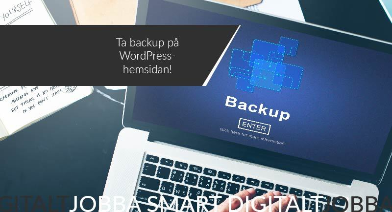 Ta backup på WordPress hemsidan!