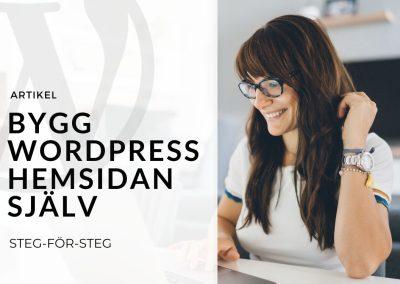 Bygg WordPress hemsidan själv